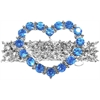 Mirage Pet Products Heart Hair Barrette Blue