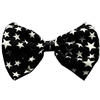 Mirage Pet Products Dog Bow Tie Black and White Stars