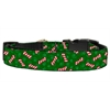 Mirage Pet Products Candy Cane Bones Nylon and Ribbon Collars  . Medium