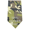 Mirage Pet Products Cant Hold Licker Screen Print Bandana Green Camo