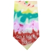 Mirage Pet Products Cant Hold Licker Screen Print Bandana Tie Dye