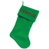 Mirage Pet Products Custom Embroidered Velvet 18 inch Made in the USA Christmas Stocking Green