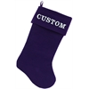 Mirage Pet Products Custom Embroidered Velvet 18 inch Made in the USA Christmas Stocking Purple