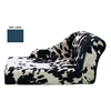 Mirage Pet Products Cowprint with Turquoise Trim Pet Chaise Lounge Bed