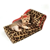Mirage Pet Products Leopard with Sangria Trim Pet Chaise Lounge Bed