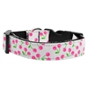 Mirage Pet Products Cherries Nylon Collar White Large