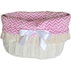 Mirage Pet Products Pink Chevron Reversible Snuggle Bugs Pet Bed, Bag, and Car Seat All-in-One