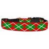 Mirage Pet Products Christmas Argyle Nylon Ribbon Collar Large