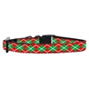 Mirage Pet Products Christmas Argyle Nylon Ribbon Collar Small