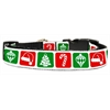 Mirage Pet Products Timeless Christmas Nylon Ribbon Collar Medium