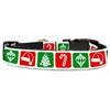 Mirage Pet Products Timeless Christmas Nylon Ribbon Collar Medium
