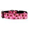 Mirage Pet Products Confetti Dots Nylon Collar Bright Pink Medium