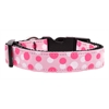Mirage Pet Products Confetti Dots Nylon Collar Light Pink Large