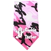 Mirage Pet Products Cookie Taster Screen Print Bandana Pink Camo