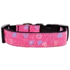 Mirage Pet Products Crazy Hearts Nylon Collars Bright Pink Medium