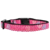 Mirage Pet Products Crazy Hearts Nylon Collars Bright Pink Cat Safety