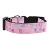 Mirage Pet Products Crazy Hearts Nylon Collars Light Pink XS