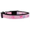 Mirage Pet Products Crazy Hearts Nylon Collars Light Pink Cat Safety