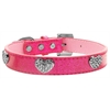 Mirage Pet Products Crystal Heart Ice Cream Collar Pink Medium