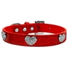Mirage Pet Products Crystal Heart Ice Cream Collar Red Medium