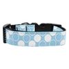 Mirage Pet Products Diagonal Dots Nylon Collar  Baby Blue Large