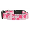 Mirage Pet Products Diagonal Dots Nylon Collar  Light Pink Medium