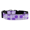 Mirage Pet Products Diagonal Dots Nylon Collar  Lavender Medium