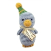 Mirage Pet Products Knit Knacks Disco Duck Organic Cotton Small Dog Toy