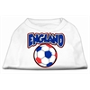 Mirage Pet Products England Soccer Screen Print Shirt White 6x (26)