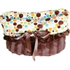 Mirage Pet Products Fall Party Dots Reversible Snuggle Bugs Pet Bed, Bag, and Car Seat All-in-One