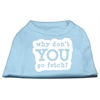Mirage Pet Products You Go Fetch Screen Print Shirt Baby Blue Med (12)
