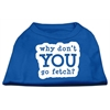 Mirage Pet Products You Go Fetch Screen Print Shirt Blue Med (12)