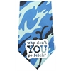 Mirage Pet Products Why don't you go Fetch Screen Print Bandana Blue Camo