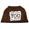 Mirage Pet Products You Go Fetch Screen Print Shirt Brown XS (8)