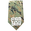 Mirage Pet Products Why don't you go Fetch Screen Print Bandana Digital Camo