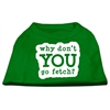 Mirage Pet Products You Go Fetch Screen Print Shirt Green Lg (14)