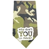 Mirage Pet Products Why don't you go Fetch Screen Print Bandana Green Camo