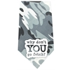 Mirage Pet Products Why don't you go Fetch Screen Print Bandana Grey Camo