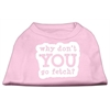 Mirage Pet Products You Go Fetch Screen Print Shirt Light Pink XXXL (20)