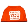 Mirage Pet Products You Go Fetch Screen Print Shirt Orange Lg (14)