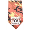 Mirage Pet Products Why don't you go Fetch Screen Print Bandana Orange Camo