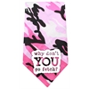 Mirage Pet Products Why don't you go Fetch Screen Print Bandana Pink Camo