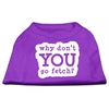 Mirage Pet Products You Go Fetch Screen Print Shirt Purple Lg (14)