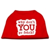Mirage Pet Products You Go Fetch Screen Print Shirt Red XS (8)