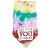 Mirage Pet Products Why don't you go Fetch Screen Print Bandana Tie Dye