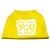 Mirage Pet Products You Go Fetch Screen Print Shirt Yellow Lg (14)