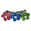 Mirage Pet Products Flower Clip Multi-Colored