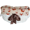 Mirage Pet Products Foxy Reversible Snuggle Bugs Pet Bed, Bag, and Car Seat All-in-One
