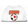 Mirage Pet Products Germany Soccer Screen Print Shirt White 6x (26)
