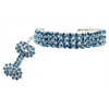 Mirage Pet Products Glamour Bits Pet Jewelry Blue L (10-12)